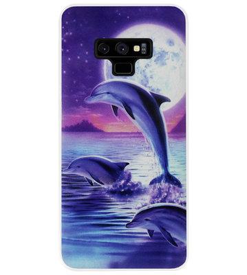 ADEL Kunststof Back Cover Hardcase Hoesje voor Samsung Galaxy Note 9 - Dolfijn Blauw