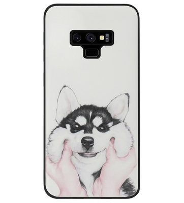ADEL Siliconen Back Cover Softcase Hoesje voor Samsung Galaxy Note 9 - Husky Hond