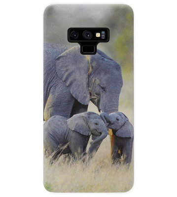 ADEL Siliconen Back Cover Softcase Hoesje voor Samsung Galaxy Note 9 - Olifant Familie