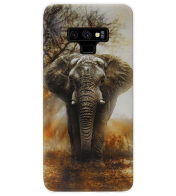 ADEL Siliconen Back Cover Softcase Hoesje voor Samsung Galaxy Note 9 - Olifanten