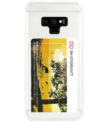 ADEL Siliconen Back Cover Softcase Hoesje voor Samsung Galaxy Note 9 - Pasjeshouder Doorzichtig