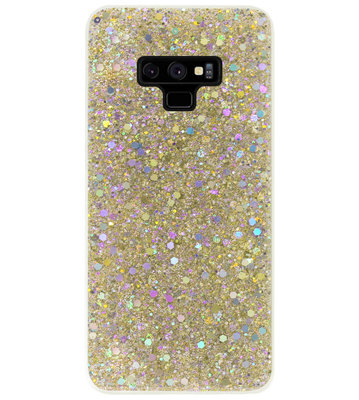 ADEL Premium Siliconen Back Cover Softcase Hoesje voor Samsung Galaxy Note 9 - Bling Bling Glitter Goud