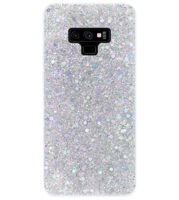 ADEL Premium Siliconen Back Cover Softcase Hoesje voor Samsung Galaxy Note 9 - Bling Bling Glitter Zilver