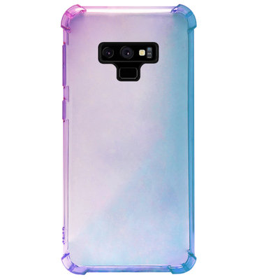 ADEL Siliconen Back Cover Softcase Hoesje voor Samsung Galaxy Note 9 - Kleurovergang Blauw Paars