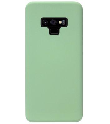 ADEL Premium Siliconen Back Cover Softcase Hoesje voor Samsung Galaxy Note 9 - Lichtgroen