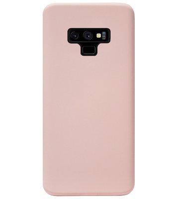 ADEL Premium Siliconen Back Cover Softcase Hoesje voor Samsung Galaxy Note 9 - Lichtroze