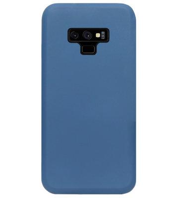 ADEL Premium Siliconen Back Cover Softcase Hoesje voor Samsung Galaxy Note 9 - Blauw