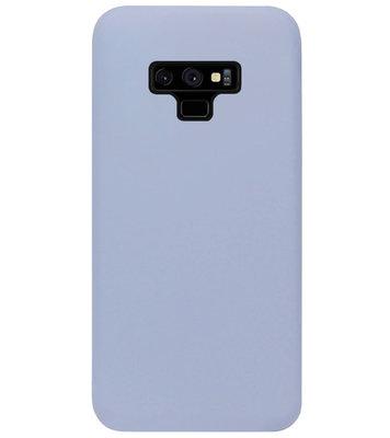 ADEL Premium Siliconen Back Cover Softcase Hoesje voor Samsung Galaxy Note 9 - Lavendel Grijs