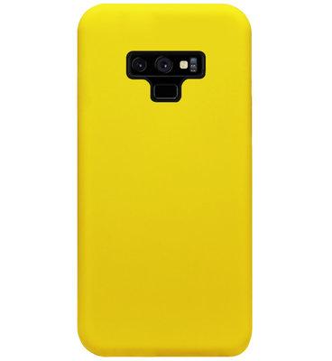 ADEL Siliconen Back Cover Softcase Hoesje voor Samsung Galaxy Note 9 - Geel