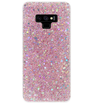 ADEL Premium Siliconen Back Cover Softcase Hoesje voor Samsung Galaxy Note 9 - Bling Bling Roze