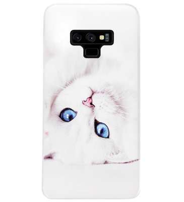 ADEL Siliconen Back Cover Softcase Hoesje voor Samsung Galaxy Note 9 - Katten