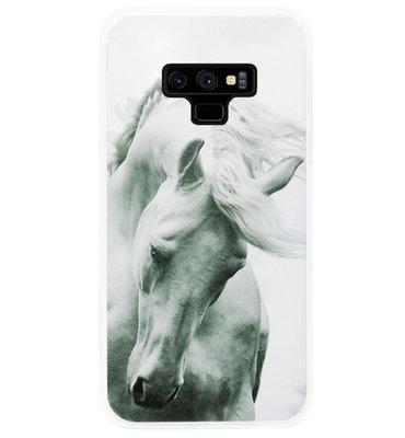 ADEL Siliconen Back Cover Softcase Hoesje voor Samsung Galaxy Note 9 - Paarden