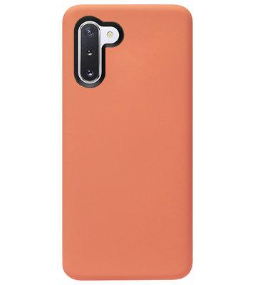 ADEL Premium Siliconen Back Cover Softcase Hoesje voor Samsung Galaxy Note 10 - Oranje