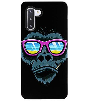 ADEL Siliconen Back Cover Softcase Hoesje voor Samsung Galaxy Note 10 - Gorilla Apen