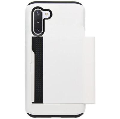 ADEL Kunststof Back Cover Hardcase Hoesje voor Samsung Galaxy Note 10 - Pasjeshouder Wit