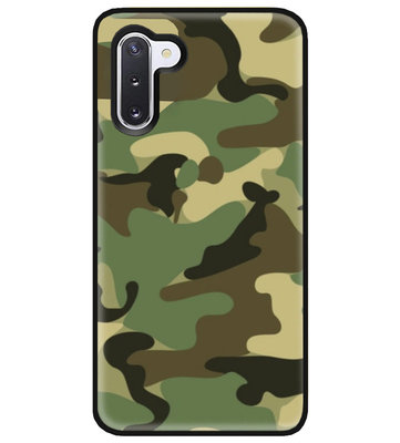 ADEL Siliconen Back Cover Softcase Hoesje voor Samsung Galaxy Note 10 - Camouflage