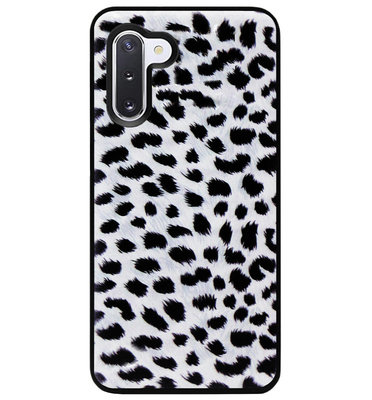 ADEL Siliconen Back Cover Softcase Hoesje voor Samsung Galaxy Note 10 - Luipaard Wit