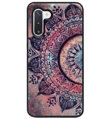 ADEL Siliconen Back Cover Softcase Hoesje voor Samsung Galaxy Note 10 - Mandala Bloemen Rood
