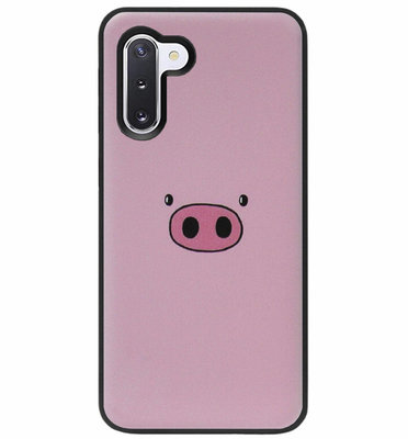 ADEL Siliconen Back Cover Softcase Hoesje voor Samsung Galaxy Note 10 - Biggetje