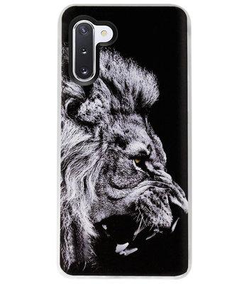 ADEL Siliconen Back Cover Softcase Hoesje voor Samsung Galaxy Note 10 - Leeuw Zwart