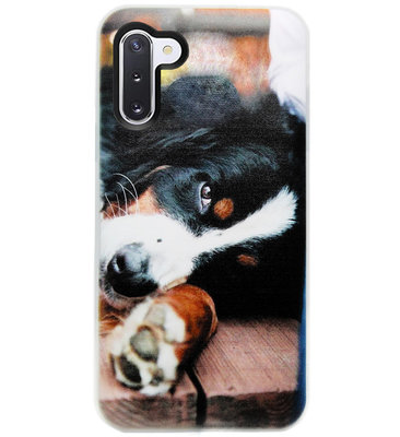 ADEL Siliconen Back Cover Softcase Hoesje voor Samsung Galaxy Note 10 - Berner Sennenhond