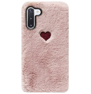 ADEL Siliconen Back Cover Softcase Hoesje voor Samsung Galaxy Note 10 - Hartjes Roze