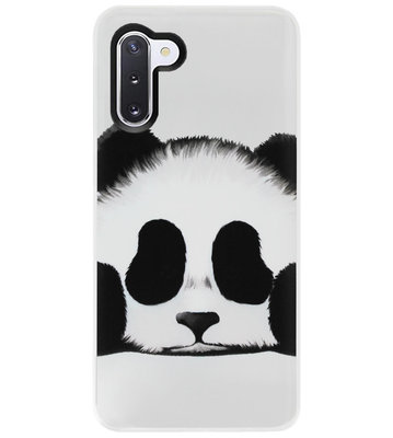 ADEL Siliconen Back Cover Softcase Hoesje voor Samsung Galaxy Note 10 - Panda