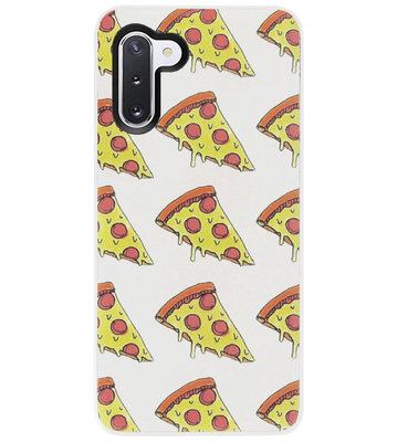 ADEL Siliconen Back Cover Softcase Hoesje voor Samsung Galaxy Note 10 - Junkfood Pizza