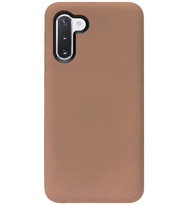 ADEL Siliconen Back Cover Softcase Hoesje voor Samsung Galaxy Note 10 - Bruin