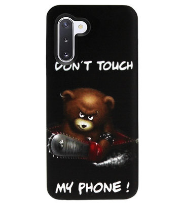 ADEL Siliconen Back Cover Softcase Hoesje voor Samsung Galaxy Note 10 - Don't Touch My Phone Beren