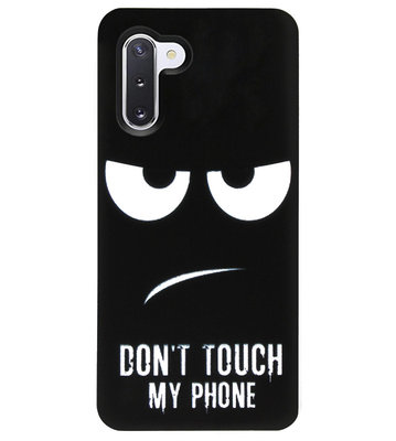 ADEL Siliconen Back Cover Softcase Hoesje voor Samsung Galaxy Note 10 - Don't Touch My Phone