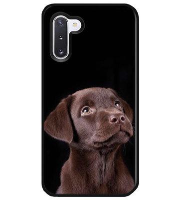ADEL Siliconen Back Cover Softcase Hoesje voor Samsung Galaxy Note 10 - Labrador Retriever Hond Bruin