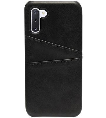 ADEL Kunstleren Back Cover Pasjes Hoesje voor Samsung Galaxy Note 10 - Zwart