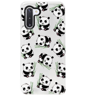 ADEL Siliconen Back Cover Softcase Hoesje voor Samsung Galaxy Note 10 - Panda Liggend