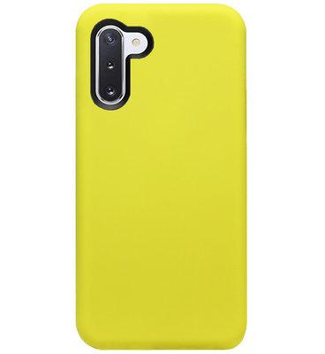 ADEL Premium Siliconen Back Cover Softcase Hoesje voor Samsung Galaxy Note 10 - Geel