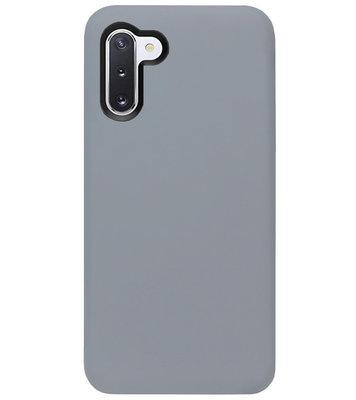 ADEL Siliconen Back Cover Softcase Hoesje voor Samsung Galaxy Note 10 - Grijs