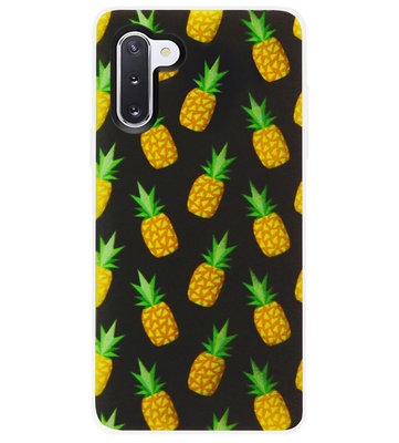 ADEL Siliconen Back Cover Softcase Hoesje voor Samsung Galaxy Note 10 - Ananas