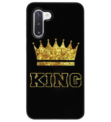 ADEL Siliconen Back Cover Softcase Hoesje voor Samsung Galaxy Note 10 - King Koning