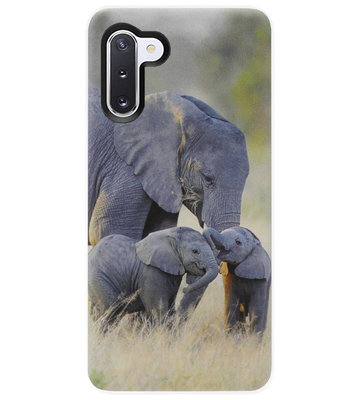 ADEL Siliconen Back Cover Softcase Hoesje voor Samsung Galaxy Note 10 - Olifant Familie
