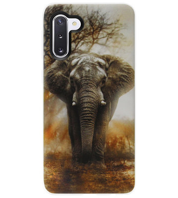 ADEL Siliconen Back Cover Softcase Hoesje voor Samsung Galaxy Note 10 - Olifanten