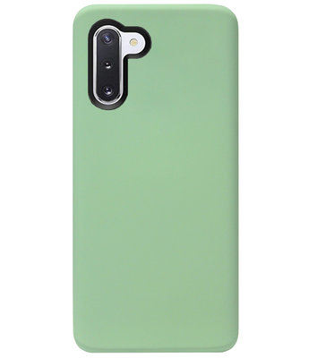 ADEL Premium Siliconen Back Cover Softcase Hoesje voor Samsung Galaxy Note 10 - Lichtgroen