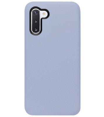 ADEL Premium Siliconen Back Cover Softcase Hoesje voor Samsung Galaxy Note 10 - Lavendel Grijs