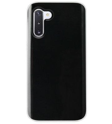 ADEL Siliconen Back Cover Softcase Hoesje voor Samsung Galaxy Note 10 - Doorzichtig Transparant