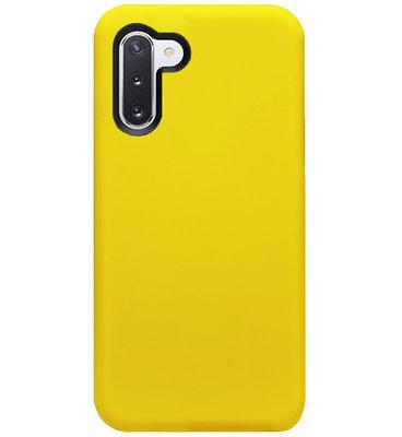 ADEL Siliconen Back Cover Softcase Hoesje voor Samsung Galaxy Note 10 - Geel