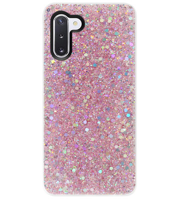 ADEL Premium Siliconen Back Cover Softcase Hoesje voor Samsung Galaxy Note 10 - Bling Bling Roze