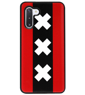 ADEL Siliconen Back Cover Softcase Hoesje voor Samsung Galaxy Note 10 - Amsterdam Andreaskruisen