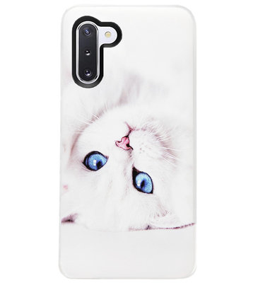 ADEL Siliconen Back Cover Softcase Hoesje voor Samsung Galaxy Note 10 - Katten