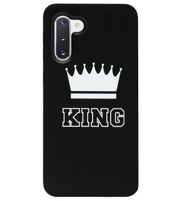 ADEL Siliconen Back Cover Softcase Hoesje voor Samsung Galaxy Note 10 - King