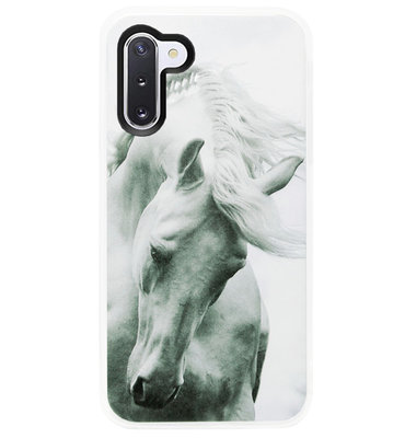 ADEL Siliconen Back Cover Softcase Hoesje voor Samsung Galaxy Note 10 - Paarden