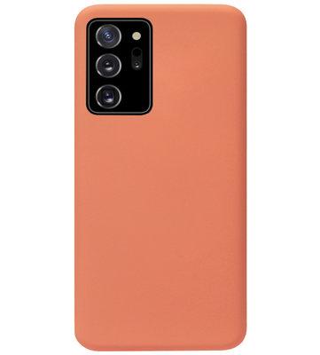 ADEL Premium Siliconen Back Cover Softcase Hoesje voor Samsung Galaxy Note 20 - Oranje